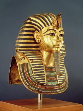 The Funerary Mask of Tutankhamun by Egyptian 18th Dynasty