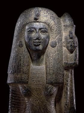 Standard Bearing Statue of Queen Nefertari, New Kingdom, C.1290-1224 Bc by Egyptian 19th Dynasty