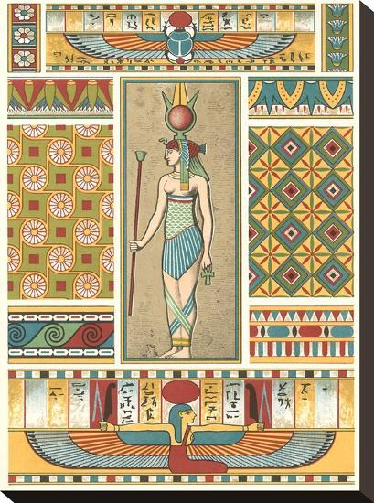 Egyptian Motifs-Found Image Press-Stretched Canvas Print