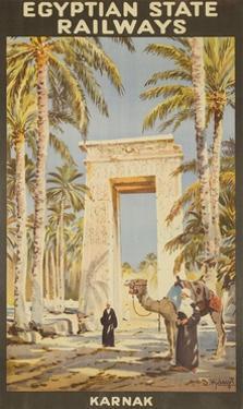 Egyptian State Railways Travel Poster Karnak