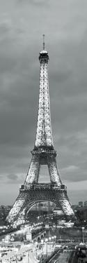 Eiffel Tower and Christmas Market at Dusk, Paris, Ile-De-France, France