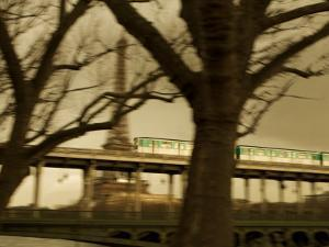 Eiffel Tower and Metro Train on Pont De Bir-Hakeim, Paris, France, Europe