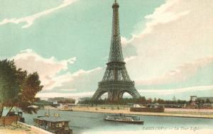 Eiffel Tower and Seine, Paris, France
