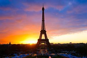Eiffel Tower at Sunset Paris