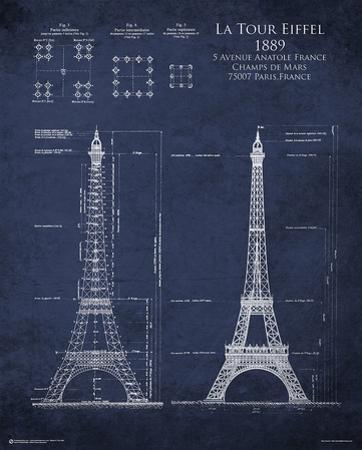 Eiffel Tower Blueprint