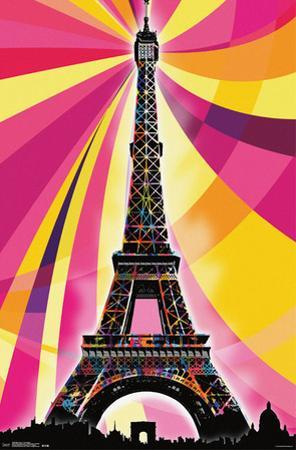 Eiffel Tower - Psychedelic
