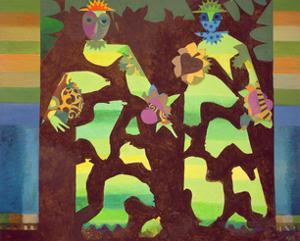 Figures in a Garden, 1979-81 by Eileen Agar