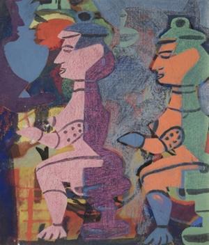 Tribal Figures, 1938 by Eileen Agar