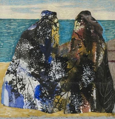 Two Old Men in the Sea by Eileen Agar