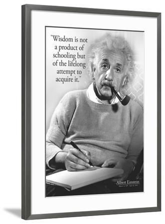 Einstein - Wisdom--Framed Poster