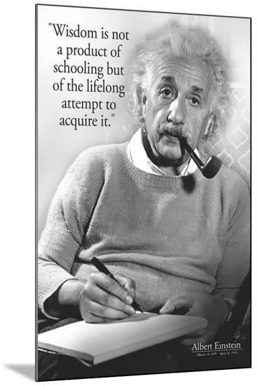 Einstein - Wisdom--Mounted Print