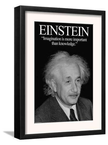 Einstein-Wilbur Pierce-Framed Art Print