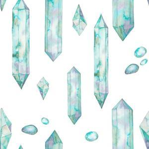 Watercolor Crystals and Gem Stones by Eisfrei