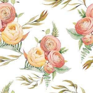 Watercolor Flowers by Eisfrei