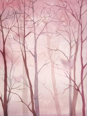 Watercolor Forest Art by Eisfrei