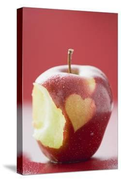 Apple with Heart, Partly Eaten by Eising Studio - Food Photo and Video