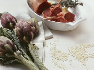 Artichokes, Lamb, Rice by Eising Studio - Food Photo and Video