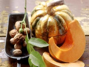 Autumn Still Life with Walnuts and Pumpkin by Eising Studio - Food Photo and Video