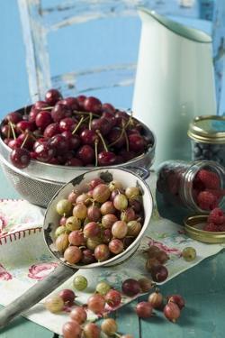 Berries and Cherries with Milk Jug by Eising Studio - Food Photo and Video