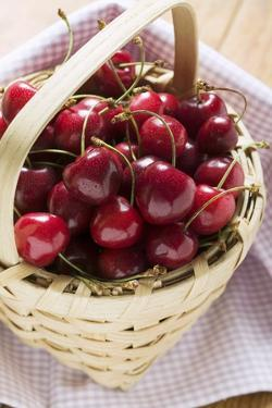 Cherries in a Basket by Eising Studio - Food Photo and Video