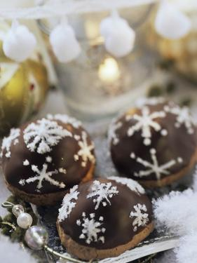 Chocolate Marzipan Biscuits with Black Cherries by Eising Studio - Food Photo and Video