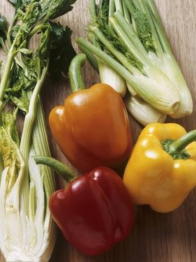 Fennel, Celery and Different Coloured Peppers by Eising Studio - Food Photo and Video