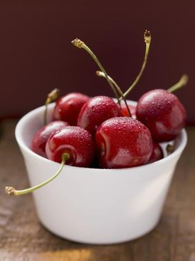 Fresh Cherries in Dish by Eising Studio - Food Photo and Video