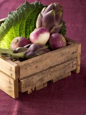 Fresh Vegetables in a Crate by Eising Studio - Food Photo and Video