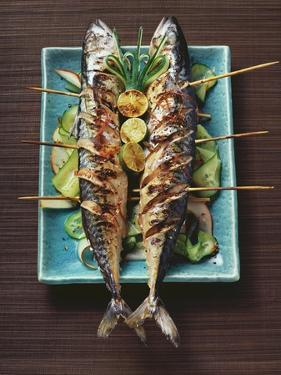 Grilled Mackerel with Cucumber and Pear Salad by Eising Studio - Food Photo and Video