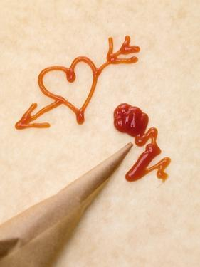 Heart with Arrow, Piping Bag and Ketchup by Eising Studio - Food Photo and Video