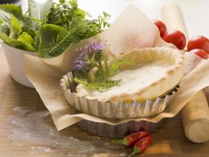Ingredients for Tarts: Pastry Cases and Herbs by Eising Studio - Food Photo and Video