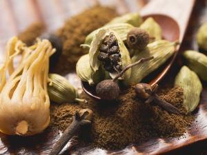 Mace, Cardamom Pods and Cloves by Eising Studio - Food Photo and Video