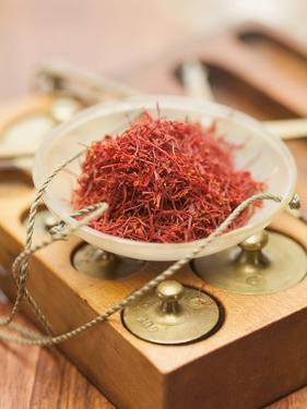 Saffron Threads in Scale Pan by Eising Studio - Food Photo and Video