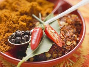 Spices for Meat Dishes (Chilli and Bay Leaf) by Eising Studio - Food Photo and Video
