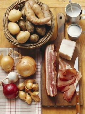 Still Life: Bacon, Onions, Potatoes and Sour Cream by Eising Studio - Food Photo and Video