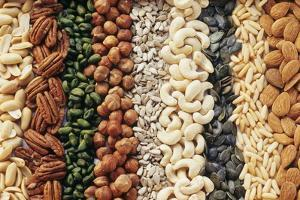 Various Nuts and Seeds Without Shells (Filling the Picture) by Eising Studio - Food Photo and Video