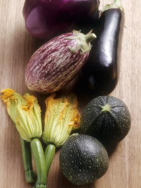 Various Types of Aubergines and Courgettes by Eising Studio - Food Photo and Video