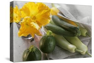 Various Types of Courgettes and Courgette Flowers by Eising Studio - Food Photo and Video