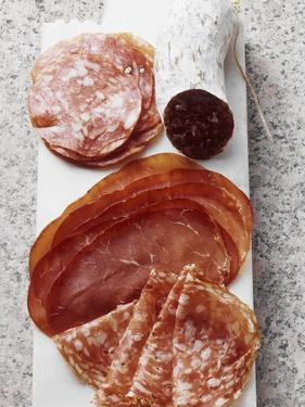 Various Types of Italian Salami, Bresaola and Sopressa by Eising Studio - Food Photo and Video