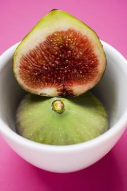 Whole and Half Fig in Bowl by Eising Studio - Food Photo and Video