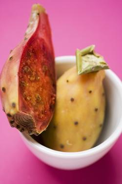 Whole and Half Prickly Pear in Bowl by Eising Studio - Food Photo and Video