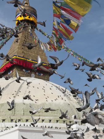 Boudhnath Stupa, One of the Holiest Buddhist Sites in Kathmandu, Nepal, Asia by Eitan Simanor