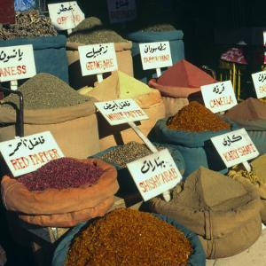 Close Up of Pyramids of Loose Spices for Sale in Local Market, Aswan, Egypt, North Africa, Africa by Eitan Simanor