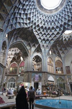 Teashop in a Khan, Bazar, Kashan, Iran, Western Asia by Eitan Simanor