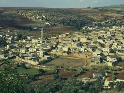 View from Above of Palestinian Village of Gilboa, Mount Gilboa, Palestinian Authority, Palestine by Eitan Simanor