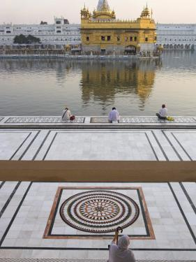 View from Entrance Gate of Holy Pool and Sikh Temple, Golden Temple, Amritsar, Punjab State, India by Eitan Simanor
