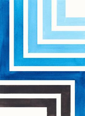Blue Aztec Pattern by Ejaaz Haniff
