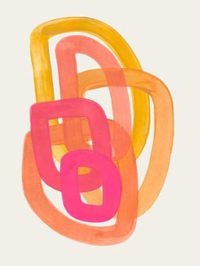 Funky Yellow Magenta Spiral by Ejaaz Haniff