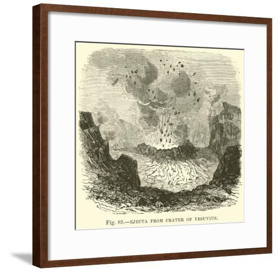 Ejecta from Crater of Vesuvius--Framed Giclee Print