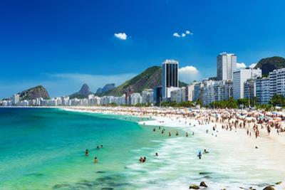 View of Copacabana Beach in Rio De Janeiro, Brazil by ekaterina_belova
